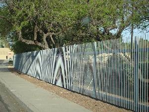 Traditional Charter School playground perimeter fence