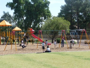 playground in use at traditional charter school