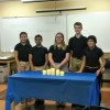 students with National Junior Honor Society candles