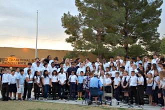 Painted Rock Academy students perform in outdoor choir concert